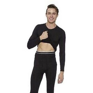 Rocky Underwear & Socks - NEW Men's Rocky Fleece Thermals Medium Black